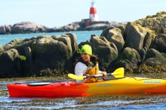 Girl in front of Muglins Kayaking.ie in Dalkey (82)