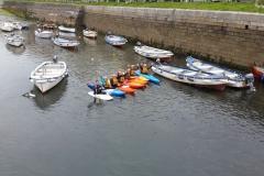 Kayaking-group-harbour