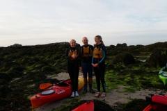 Kayaking-group-land