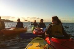 Kayaking-group-sunset7