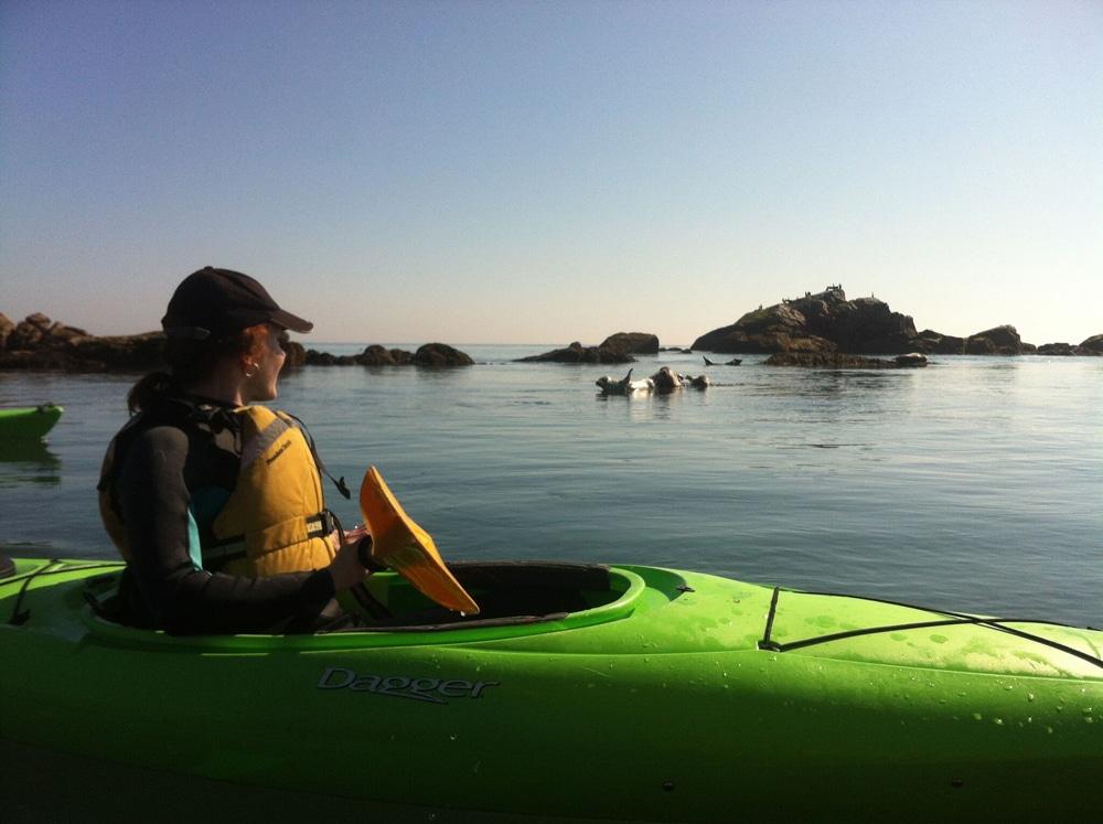 Kayaking sunset